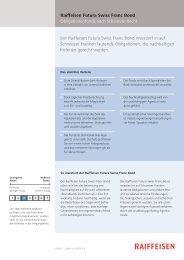 Der Raiffeisen Futura Swiss Franc Bond investiert in auf Schweizer ...