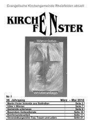 Gemeindebrief März / April / Mai 2010 - Evangelische ...
