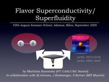 Lectures on flavor superfluidity & superconductivity