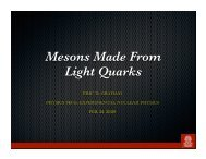 Mesons Made From Light Quarks