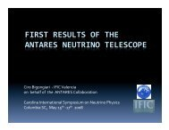 First Results from the ANTARES Neutrino Telescope
