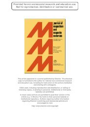 J. Mag. Magn. Mat. 321 3225 - USC Department of Physics ...