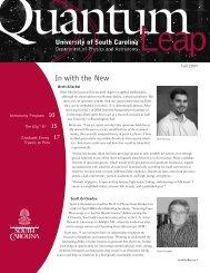 2007 - Physics and Astronomy - University of South Carolina