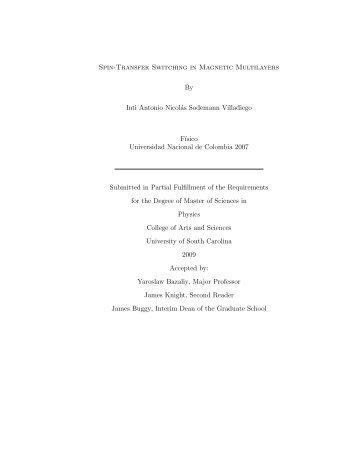 MS Thesis 2009 - University of South Carolina