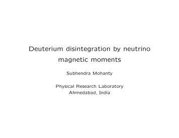 Deuterium disintegration by neutrino magnetic moments