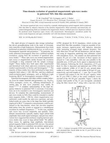 Phys. Rev. B 67 024411