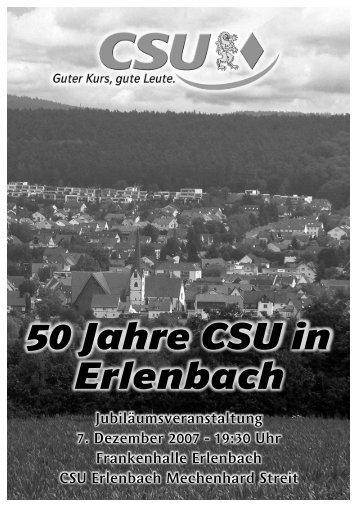 50 Jahre CSU in Erlenbach - bei der CSU Erlenbach-Mechenhard ...