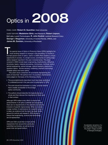 Optics in 2008 - SFSU Physics & Astronomy - San Francisco State ...