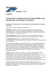 Angebot Verkauf oder Vermietung einer ... - Stadt Dormagen