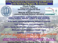 Chuck Fadley X-ray Photoelectron Spectroscopy and Diffraction in ...