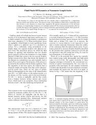Fluid Pinch-Off Dynamics at Nanometer Length Scales - Physics and ...