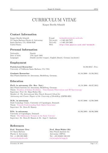 curriculum vitae of priv doz dr henrik beuther date of