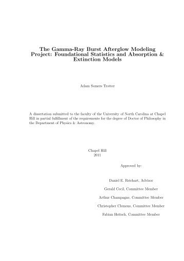 The Gamma-Ray Burst Afterglow Modeling Project - Department of ...
