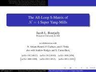 The All-Loop S-Matrix of N=4 - University of North Carolina at ...