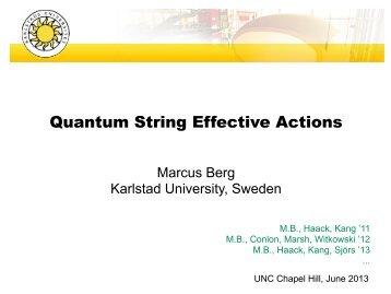 Quantum String Effective Actions