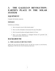 3. THE GALILEAN REVOLUTION: EARTH'S PLACE IN THE SOLAR ...