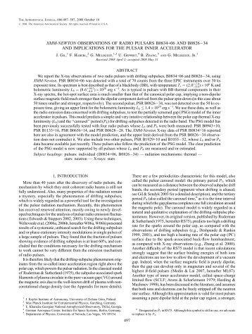 xmm-newton observations of radio pulsars b0834+06 - UNLV ...