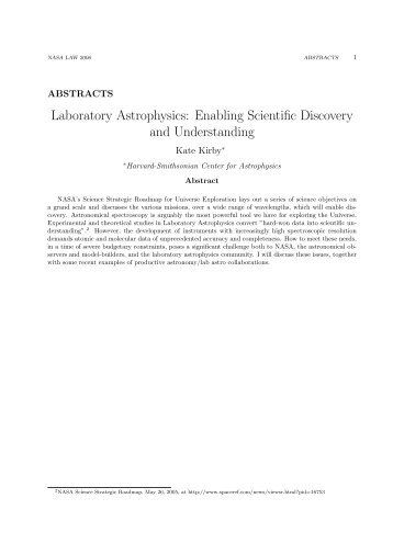 Combined Abstracts - UNLV Department of Physics and Astronomy ...