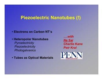 Piezoelectric Nanotubes (2004)
