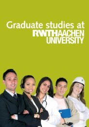 Graduate Studies at RWTH Aachen University