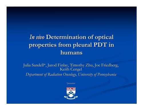 Slides - Department of Physics and Astronomy - University of ...