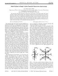 The Ratio Problem in Single Carbon Nanotube Fluorescence ...