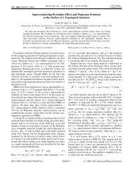 Superconducting Proximity Effect and Majorana Fermions at the ...