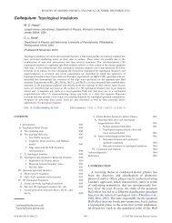 Colloquium: Topological insulators - Department of Physics and ...
