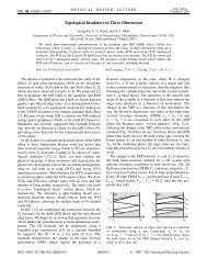 Topological Insulators in Three Dimensions - APS Link Manager ...