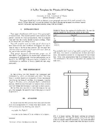 Best phd thesis latex template