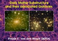 and their associated Galaxies Dark Matter Substructure