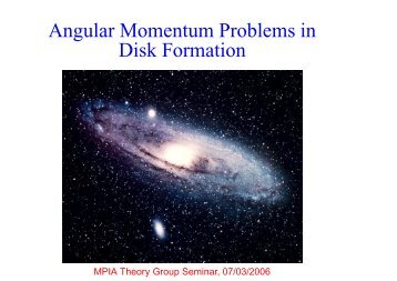 Angular Momentum Problems in Disk Formation