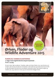 Ørken, Floder og Wildlife Adventure 2015