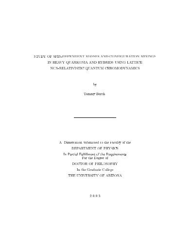Doctoral thesis in physics