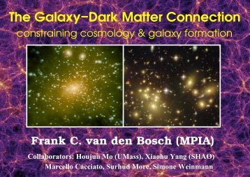 The Galaxy−Dark Matter Connection