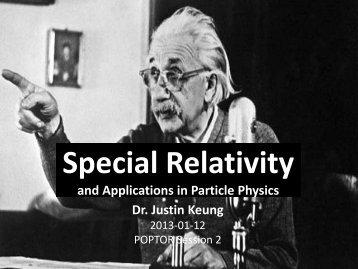 Special Relativity Talk - University of Toronto