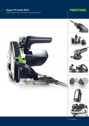 Export Pricelist 2012 - Festool