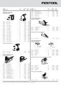 Export Pricelist 2012 - Festool - Page 3