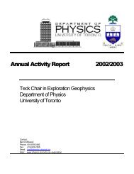 Teck Chair annual activity-2003 - Department of Physics - University ...