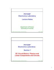 Lecture 1 - Department of Physics - University of Toronto