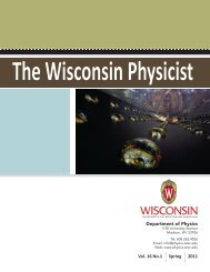 Vol. 16 No. 1, 2011 - Department of Physics - University of ...