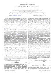 Polarization limits in K-Rb spin-exchange mixtures - Department of ...