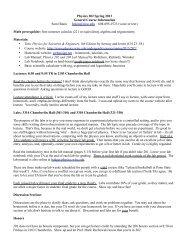 Physics 202 Spring 2013 General Course Information Sam Hokin ...