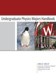 Undergraduate Physics Majors Handbook - Department of Physics ...