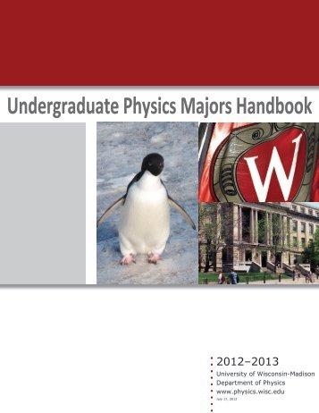 Undergraduate Physics Majors Handbook - Department of Physics ...