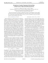 Breakdown of Angular Momentum Selection Rules in High Pressure ...