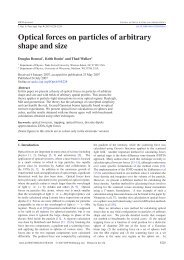 Optical forces on particles of arbitrary shape and size