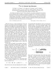 129Xe-Xe Molecular Spin Relaxation - University of Wisconsin ...
