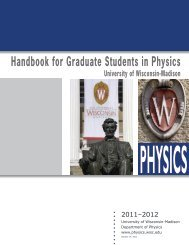 Grad Student handbook - Department of Physics - University of ...