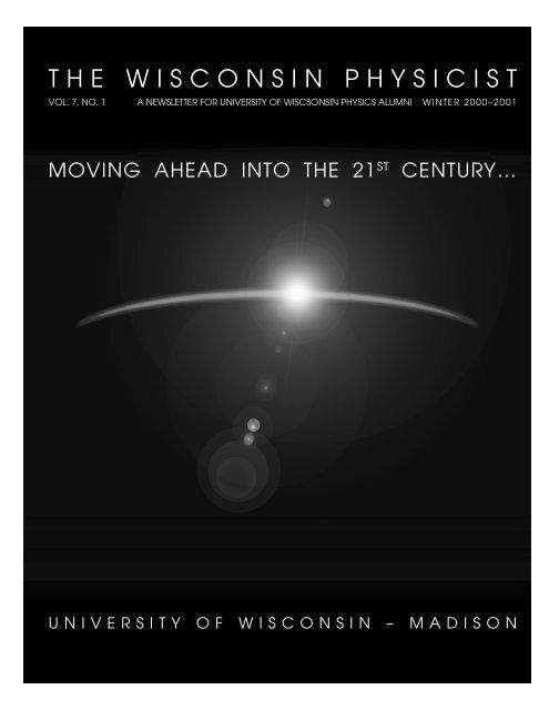 Vol. 07 No. 1, 2000 - Department of Physics - University of ...